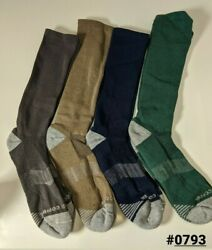 Tommie Copper Mens Compression Over the Calf Socks 12 14.5 Green Navy Blue $16.99