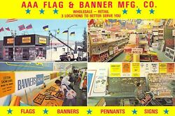 Aaa Flag And Banner Mfg Signs Galore Print Sets 6x9 Postcard Blank Back