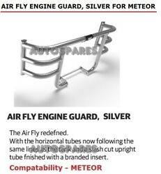 100 Genuine Royal Enfield Air Fly Engine Guard Silver For Meteor