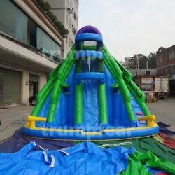 16x13x13 Ft Pvc Vinyl Commercial Inflatable Water Slide Pool With Air Blower Kit