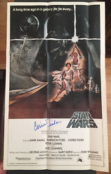 1981 Star Wars Topps Movie Poster 12 X 20 Signed By Carrie Fisher Rare