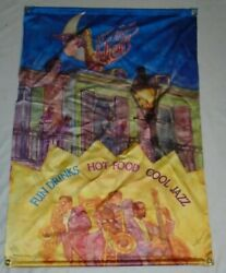 1996 Red Lobster New Orleans Nights Hanging Sign Banner Fun, Drinks, Cool Jazz.