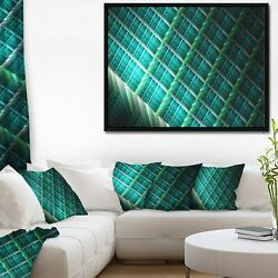 Designart And039green Fractal Grill Patternand039 Abstract Art On Small