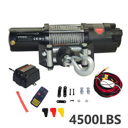 4500lb 12v Electric Recovery Winch Wireless Remote Control For Atvsutvs