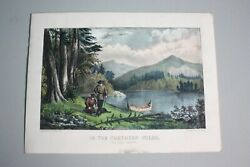 Currier And Ives, In The Northern Wilds Trapping Beaver 1834-1907