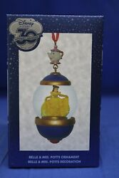 Disney Store 30th Anniversary Snowglobe Sketchbook Ornament Belle And Mrs Potts