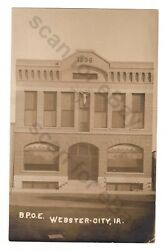 Rppc Bpoe Elks Temple Webster City Iowa Real Photo