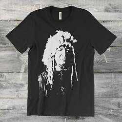 Menand039s Cool Native American Vintage Indian Unisex Cotton T Shirt Hot Tee S-5xl