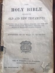 Vintage Preachers Bible - Heavily Used- Leather Bound With Wooden Box