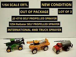 1/64 Farm Sprayers Lot Of 3 Including John Deere Rogator And International