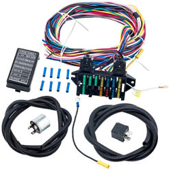 Universal Wiring Harness 12 Circuit For Muscle Car Hot Street Rod Battery Heater