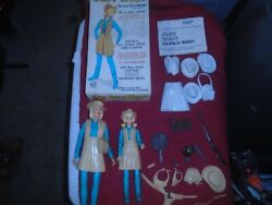 Vintage - Marxand039s Johnny Westand039s Jane And Josie West With Accessories