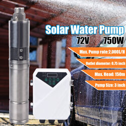 3 Dc Solar Power Water Pump Submersible Well Bore Hole Mppt Controller 1hp 72v