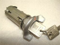 Nos Satin Finish Ignition Lock With Red Pointer 69 Oldsmobile Cutlass 442 W31