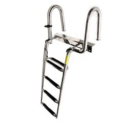Garelick Boat Boarding Ladder 2345974 | 4 Step Stainless 23 3/4 Inch