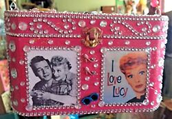 Lucy Loves Me Wood Box Purse Thats Just Crazy Handbag Lucille Ball Ooak Ricky