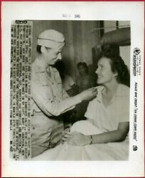 1945 1st Enlisted Wac Gets Commissioned In Swpa 8x10 Original News Radiophoto