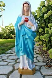 Immaculate Heart Of Mary Garden Statue 36 Inch Indestructible Polyurethane