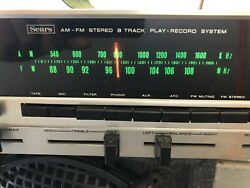 Vintage Sears Am Fm 8 Track Console Working Great