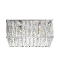 Saynsberry 16 In. 4-light Chrome Square Flush Mount With Glass Beads