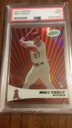 2011 Etopps Mike Trout Rookie Rc Refractor/999 35 Psa Mint 9 🔥🔥🔥