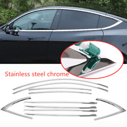 Fit For 2020-2021 Tesla Model Y Stainless Chrome Car Window Strip Cover Trim 10p