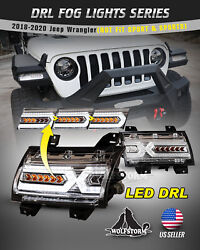 Led Sequential Turn Signals For 2018+ Jeep Wrangler Gladiator X Shape Fender Drl