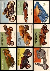 1954 Topps World On Wheels Low Number Complete Set 1-160 5 - Ex