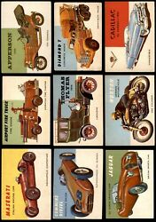 1954 Topps World On Wheels Low Number Complete Set 1-160 3 - Vg