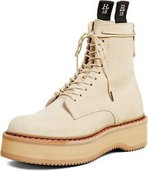 R13 Women's Single Stack Suede Boots