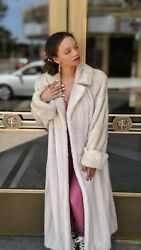 Pearl Mink Stroller Coat Size Large Pearly White Fine Fur