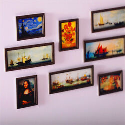 Dollhouse Miniature Photo Frame Oil Painting Wall Painting Furniture Accessof2
