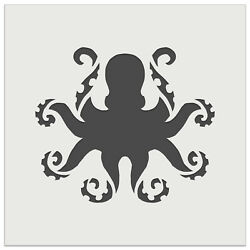 Octopus With Twisting Tentacle Arms Wall Cookie Diy Craft Reusable Stencil