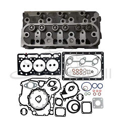 New Kubota D1005 Complete Cylinder Head And Full Gasket Kit