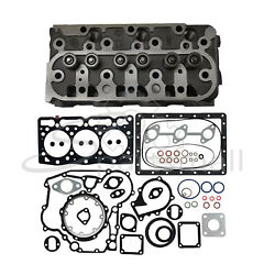 D1005 Complete Cylinder Head With Valves And Springs + Full Gasket For Kubota