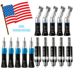 1/3/5 Black Dental Low Speed Contra Angle Straight Air Motor Handpiece Kit 4hole