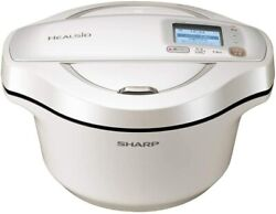 Sharp Helsio Hot Cook Automatic Cooking Pot Waterless Kn-hw24f-w/r From Japan