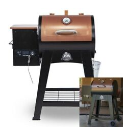 Smoker Grill Wood Pellet Flame Broiler Meat Probe Large Cooking Surface Brown