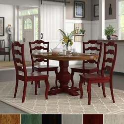 Eleanor Berry Red Extending Oval Wood Table French Back