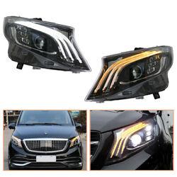For Benz Metris Headlamps Hid Projector Led Drl Replace Oem Halogen 2016-2020