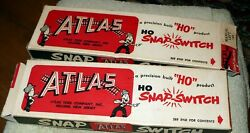 Lot Of 2 - Vintage Atlas Ho Snap-switch Manual Right And Left In Mint Boxes