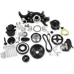 Holley 20-190bk Ls Premium Mid-mount Complete Accessory Drive Kit Fits Ls7 And Ls