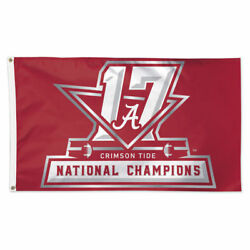 Alabama Crimson Tide 2017 National Champions 3' X 5' Deluxe Flag W/ Grommets New
