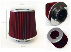 Red 3 Inch 3 76mm Cold Air Intake Cone Filter For Toyota Corolla Tacoma Paseo