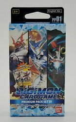 Digimon Card Game Premium Pack Set 01 4 Packs + Promos In-hand Shipping Now