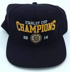 Nhl Boston Bruins 2014 Stanley Cup Champions Structured Adjustable Fit Cap Hat