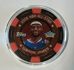 Lebron James Poker Chip 2005-06 Topps Black/red 006/399 All-star Jersey Match