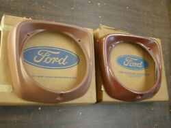 Nos Oem Ford 1961 1966 Truck F100 Pickup Grille Headlight Doors 1963 1964 1965