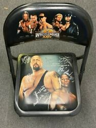 Wwe Wrestlemania 24 Ppv Chair W/ Signatures