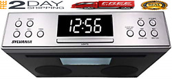 Kitchen Counter Under Cabinet Bluetooth Stereo Radio Cd Player Music Lcd Remote